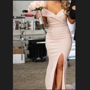 Blush xscape dress